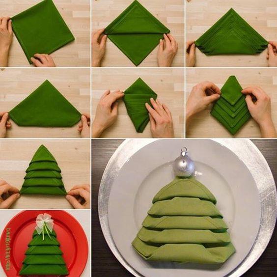 Christmas Tree Napkin Decoration