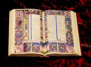 La Bibbia eseguita per Borso d'Este, Duca di Ferrara, costituisce il capolavoro assoluto della miniatura italiana del Rinascimento.
