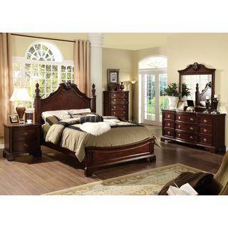 Furniture Of America Ambrosio Formal 4 Piece Dark Cherry