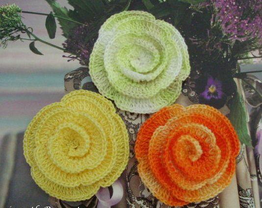 Crochet rose / rosa de crochet <3