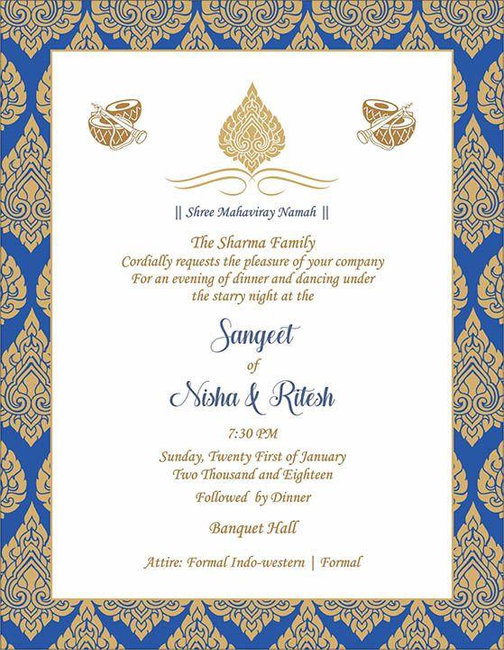 Wedding Invitation Wording For Sangeet Ceremony Indian Wedding Invitation Cards Wedding Card Wordings Indian Wedding Invitation Wording