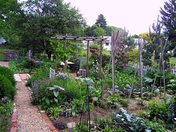 Cottage style vegetable garden i 39 m in the garden for Stylish vegetable garden