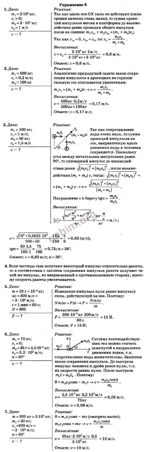 Гдз по физике для 10 класса по учебнику тихомировой яворского