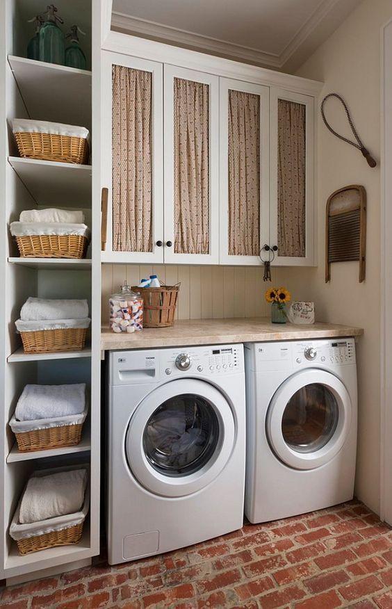 Cute Rustic Laundry Room