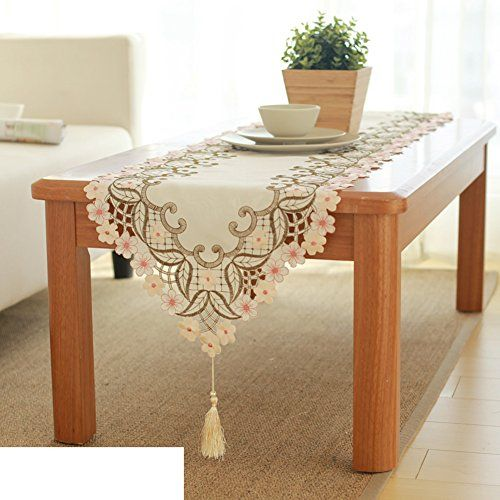 European Classic Embroidery Table Cloth Cloth Table Runner Fabric