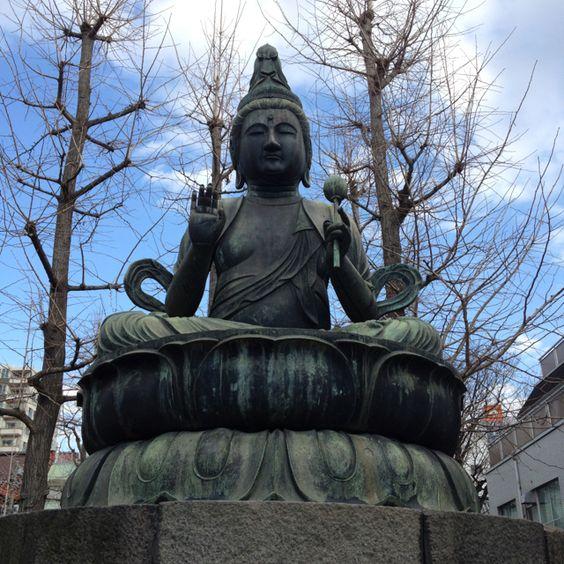 二尊仏-奉納金銅座像仏  Nisonbutsu Bodhisattva Avalokiteshvara
