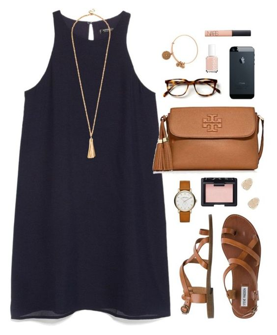 """work"" by classically-preppy ❤ liked on Polyvore featuring MANGO, Steve Madden, Tory Burch, Marc by Marc Jacobs, NARS Cosmetics, Alex and Ani, Essie and Kendra Scott:"