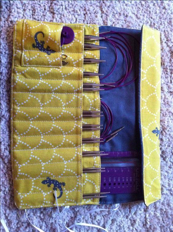 Knitting Needle Storage Roll : Knitting needle and crochet hook rolls needles