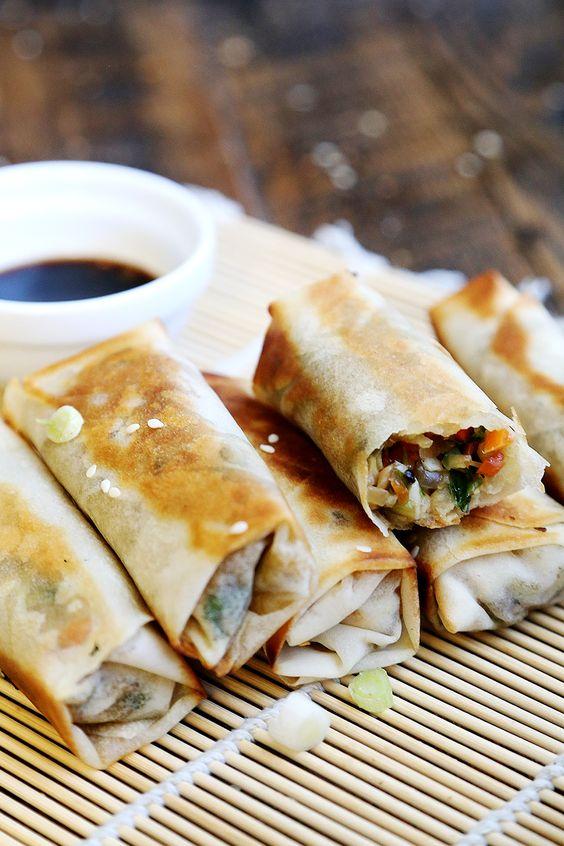 Fried Vegan Spring Rolls | Recipe | Vegan Spring Rolls, Spring Rolls ...