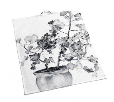 Teatowel GrayBlack Geranium  #nordicdesigncollective