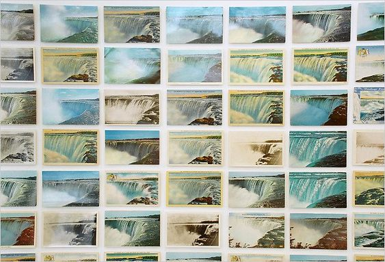 Zoe Leonard's Show Features Old Postcards of Niagara Falls - The New York Times