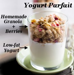 Healthy late-night snack - Yogurt parfait