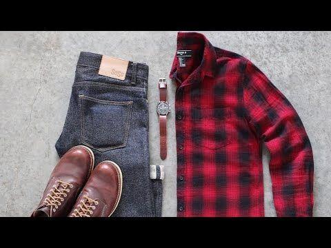تنسيق قميص الكاروهات الأحمر للرجال Youtube Mens Outfits Clothes Women S Plaid Shirt