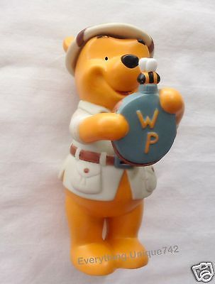 Disney Classic Winnie The Pooh Bear Honey Bee RARE Ceramic Porcelain Figurine