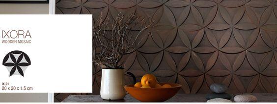 Ixora wooden mozaic by WoodZense  I just love it...