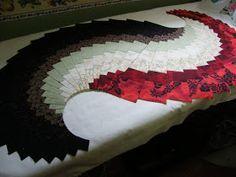 Quilt, Knit, Run, Sew: Spicy Spiral Table Runner - Part II