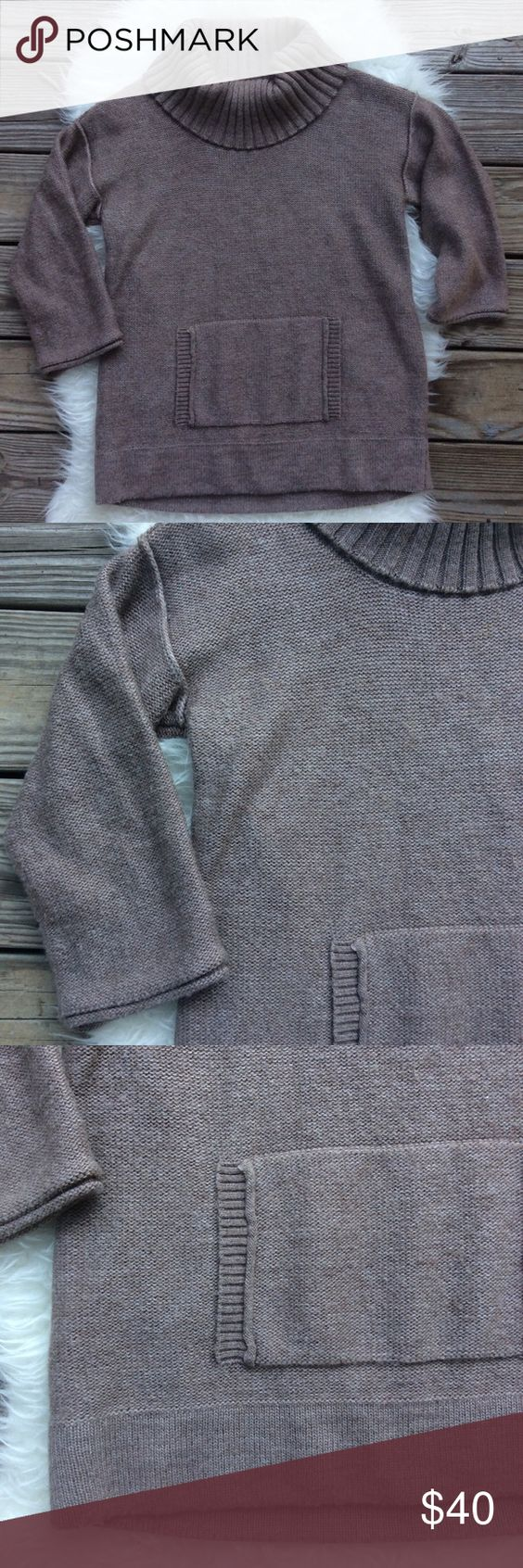 "J.Crew Wool Pullover Sweater Excellent condition J.Crew pullover sweater. Big cowl neck, 3/4 sleeves, pouch pocket. Size Medium. 50% acrylic, 40% wool & 10% mohair. Stretchy. Bust 42"", length 27"". No trades, offers welcome. J. Crew Sweaters Cowl & Turtlenecks"