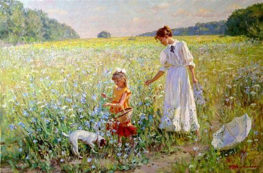 """Walk, Alexander Averin (1952, Russian) -""""Perché nasca una prateria, bastano un trifoglio, un'ape e un sogno. E se non ci sono le api e il trifoglio, può bastare anche il sogno"""" Emily Dickinson Alexander Averin"""