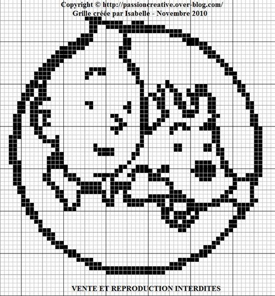 chien - dog -milou - point de croix - cross stitch - Blog : http://broderiemimie44.canalblog.com/