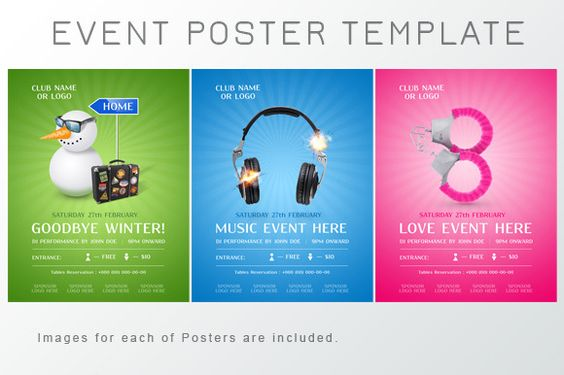 Event Poster Template by itembridge creative store on Creative - microsoft poster template