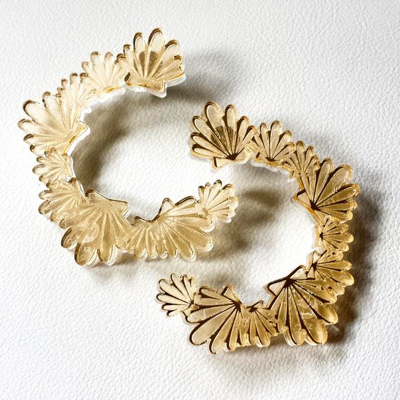 """""""Almejita"""" Hoops from the """"Amor al Caribe"""" collection 2014."""