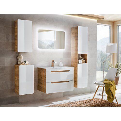 Ebern Designs Neligh 80 X 59cm Wall Mount Cabinet Wayfair Co Uk Complete Bathrooms Bathroom Furniture Kid Bathroom Decor