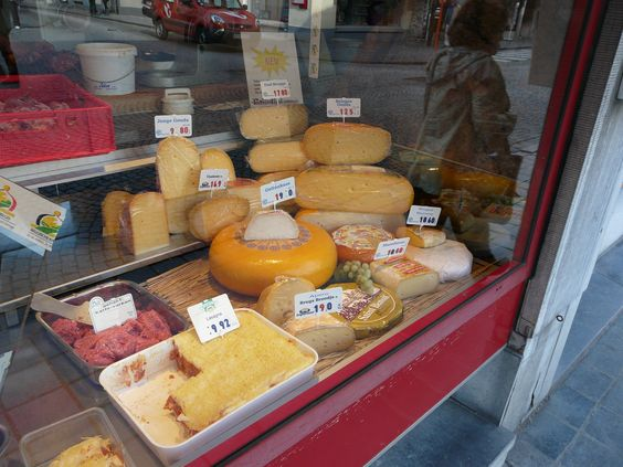 Cheese shop in Brugges...