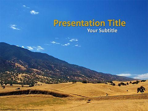 Free Hillside Mountain Powerpoint Template Powerpoint Templates Powerpoint Templates