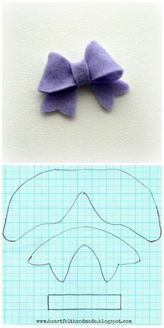 How To Make A Felt Bow Template  Diy Flowers