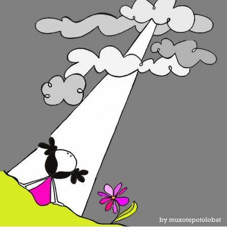 Lámina 'Claroscuros, el sol entre nubes'