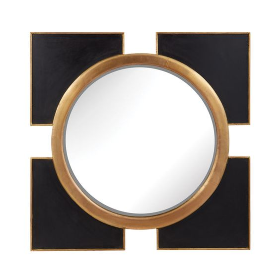 Shaped up. The art-deco style of this classy mirror adds immediate style and character to any space.