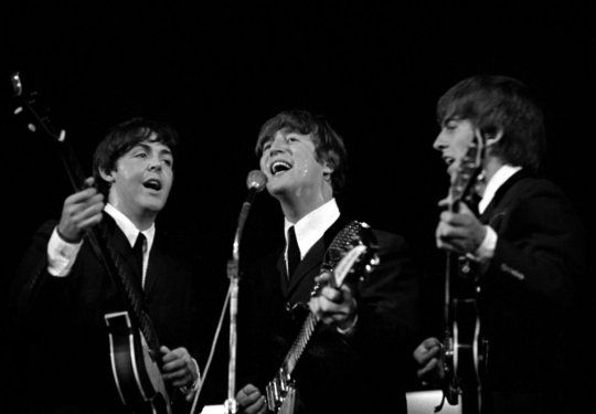 The Beatles Performing At Kb Hallen In Copenhagen Denmark 1964 The Beatles Live The Beatles Ringo Starr