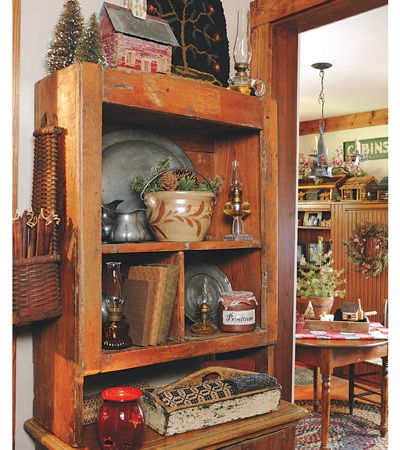 Country Sampler Decorate With Crafts Warming Trends Primitive Rooms Pinterest Shelf