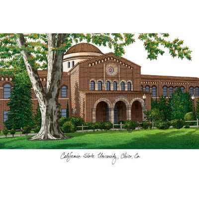 Campus Images NCAA California State University, Chico Lithograph Photographic Print