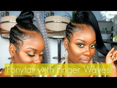 Easy Ponytail With Finger Waved Sides Short Hair Tutorial Youtube Short Hair Tutorial Finger Waves Short Hair Short Hair Ponytail