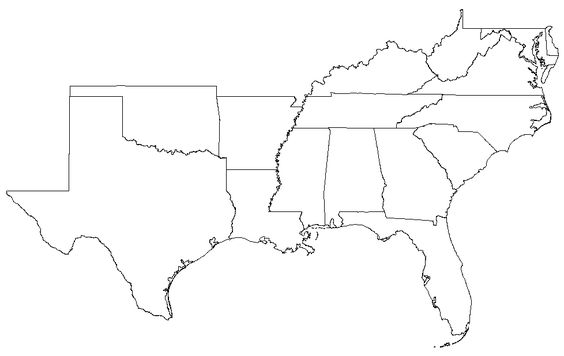 Southern State Map.Southern States Election Map 2000 Quiz By Ksus