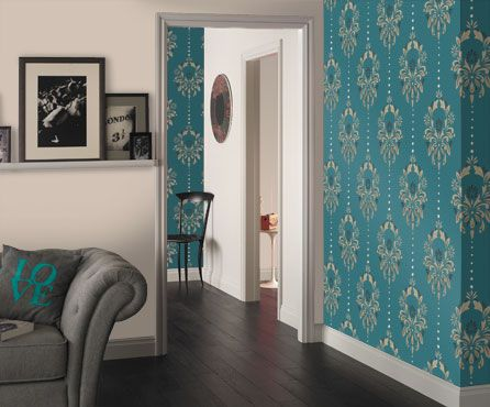 Wallpapers teal and products on pinterest - Dulux exterior wall paint design ...