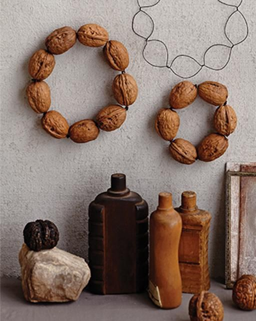 Walnut Wreath by Dietlind Wolf via Sweet Paul Magazine
