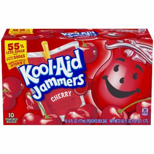 Shop For Kool Aid Jammers Cherry Flavored Drink At Kroger Find Quality Beverages Products To Add To Your Next In Store Flavored Drinks Kool Aid Cherry Flavor