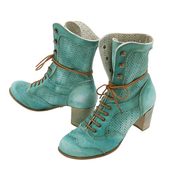 """DEKODE Boots """"Vylma"""", tuquoise"""