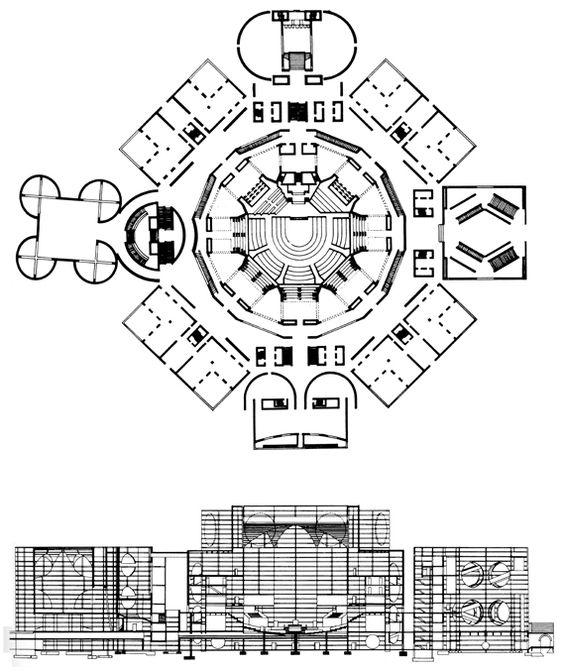 National Assembly Building of Bangladesh à Dacca par Louis Kahn