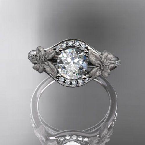 14kt platinum diamond leaf and vine wedding ring,engagement ring ...... | AnjaysDesigns - Jewelry on ArtFire