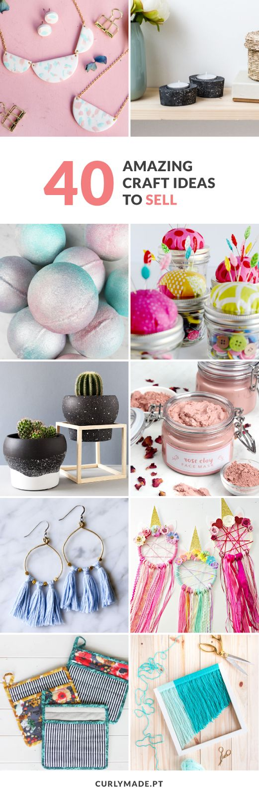 20 Amazing DIY Craft Ideas To Sell   Curly Made   Sell diy, Craft ...