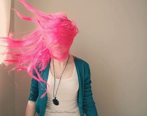 Pink swishy hair