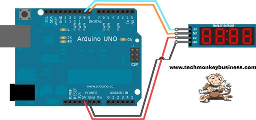 Tm1637 4 Digit Display Simple Connections To The Arduino Arduino Display Arduino Robot