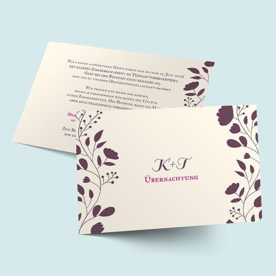 Garten der Liebe - Einlegeblätter für Hochzeitseinladungen selbst gestalten