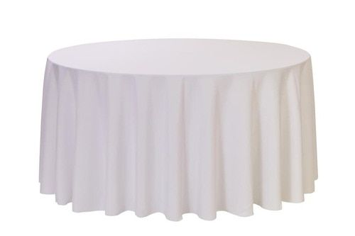 108 Inch Round Polyester Tablecloth White In 2020 White Round Tablecloths White Table Cloth Table Cloth