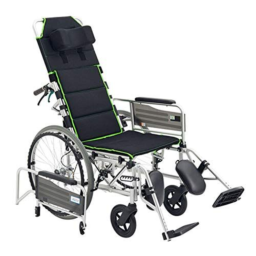 Xtsp Backrest Wheelchair Foldable Adjustable Can Lie Down And Rest Elderly Car Disabled Wheelchair Color Bla Wheelchair Modern Accent Chair Rear Brakes