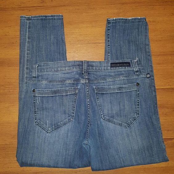 Rock & Republic jeans size 12 Rock & Republic jeans size 12. Inseam is approximately 28 inches   Bundle two or more and save 20% instantly at checkout! Rock & Republic Jeans