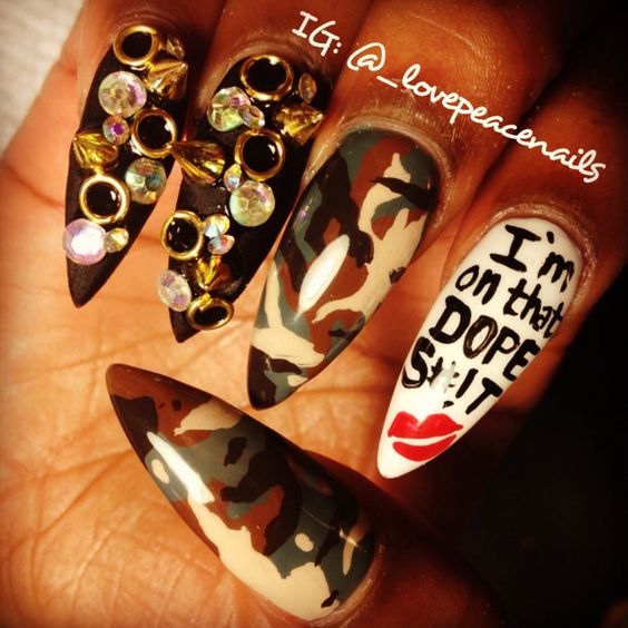 I'm on that dope sh#!t #nailart by Thao Dang